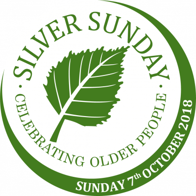 Silver Sunday 2018: round logo with date